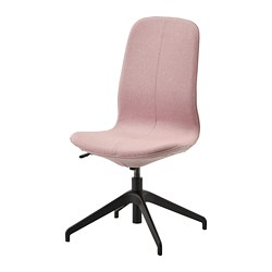 LÅNGFJÄLL - Conference chair, Gunnared light brown-pink/black