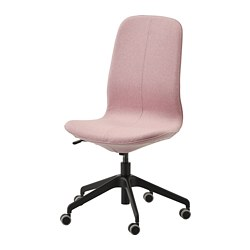 LÅNGFJÄLL - Office chair, Gunnared light brown-pink/black