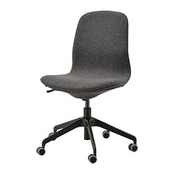 LÅNGFJÄLL - Office chair, Gunnared dark grey/black
