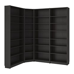 BILLY - Bookcase, black-brown
