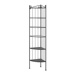 RÖNNSKÄR - Corner shelf unit, black