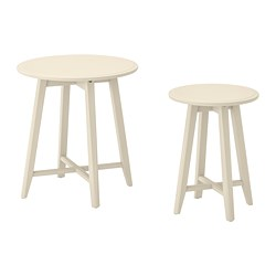 KRAGSTA - Nest of tables, set of 2, light beige