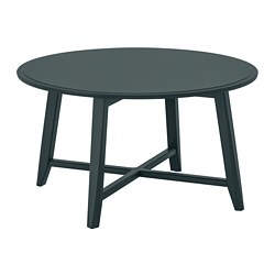 KRAGSTA - Coffee table, dark blue-green