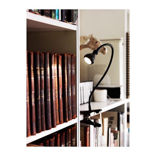 JANSJÖ lampu sorot dinding/jepit LED