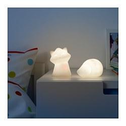 LURIGA - Lampu tidur LED, putih/landak