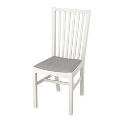 NORRNÄS - Kursi, putih/Isunda abu-abu