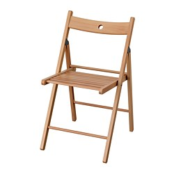 TERJE - Folding chair, beech