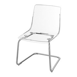 TOBIAS - Chair, transparent/chrome-plated