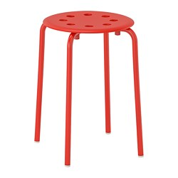 MARIUS - Stool, red