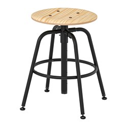 KULLABERG - Stool, pine/black