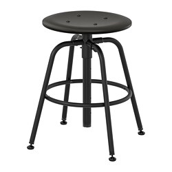 KULLABERG - Stool, black