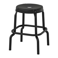 RÅSKOG - Stool, black