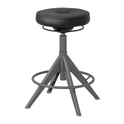 TROLLBERGET - Active sit/stand support, Glose black