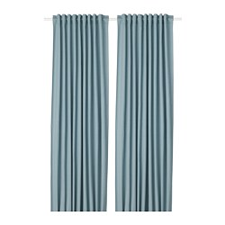 TIBAST - Curtains, 1 pair, blue