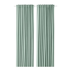 TIBAST - Curtains, 1 pair, green