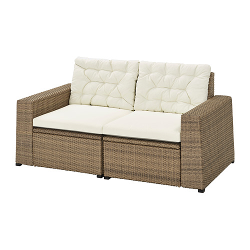 SOLLERÖN sofa mdlr dua dudukan, luar ruangan
