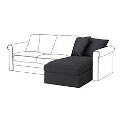 GRÖNLID - Bagian chaise longue, Sporda abu-abu tua