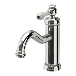 HAMNSKÄR - Wash-basin mixer tap with strainer, chrome-plated