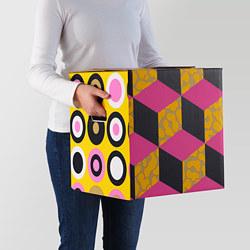 OMBYTE - Kotak kemasan, merah muda/kuning