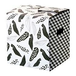 OMBYTE - Kotak kemasan, putih/hitam