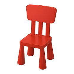 MAMMUT - Children's chair, in/outdoor/red