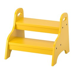 TROGEN - Bangku tangga anak, kuning