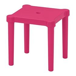 UTTER - Bangku kecil anak, dalam/luar ruang/merah muda