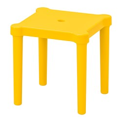UTTER - Bangku kecil anak, dalam/luar ruang/kuning