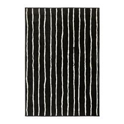 GÖRLÖSE - Karpet, bulu tipis, hitam/putih