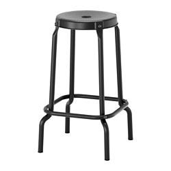 RÅSKOG - RÅSKOG, bangku bar, hitam, 63 cm
