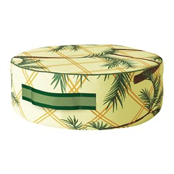 SOLBLEKT - Pouffe, motif daun kelapa kuning