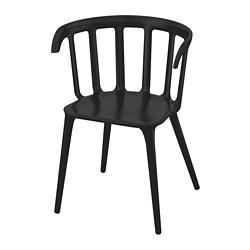 IKEA PS 2012 - Kursi dg sandaran lengan, hitam