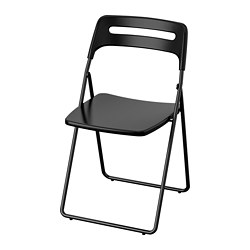 NISSE - Folding chair, black