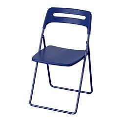 NISSE - Kursi lipat, biru tua-lilac
