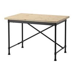 KULLABERG - Meja, kayu pinus/hitam