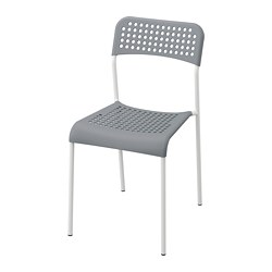 ADDE - Chair, grey/white