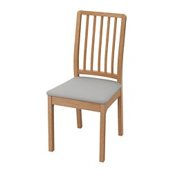 EKEDALEN - Chair, oak/Orrsta light grey