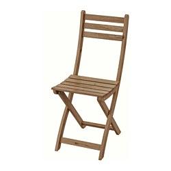 ASKHOLMEN - ASKHOLMEN, kursi, luar ruang, dapat dilipat diwarnai cokelat muda