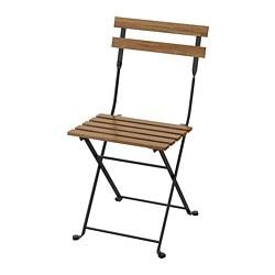 TÄRNÖ - TÄRNÖ, kursi, luar ruang, dapat dilipat hitam/diwarnai cokelat muda