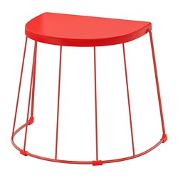 TRANARÖ - Stool/side table, in/outdoor, red