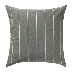 MILDRUN - Cushion cover, grey/striped, 50x50 cm