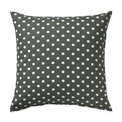 TAGGBRÄKEN - Cushion cover, grey white/dot pattern, 50x50 cm