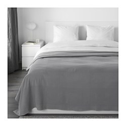 INDIRA - Penutup tempat tidur , abu-abu