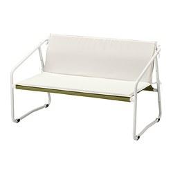 INGMARSÖ - INGMARSÖ, sofa 2 dudukan, dalam/luar ruang, putih hijau/krem, 118x69x69 cm
