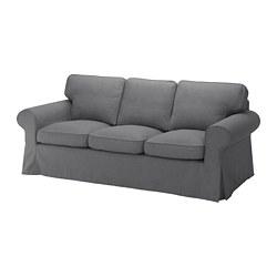 EKTORP - Sofa 3 dudukan, Nordvalla abu-abu tua