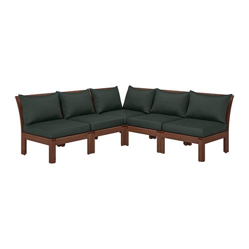 ÄPPLARÖ sofa sdt 4 ddkn mdlr, luar ruangan