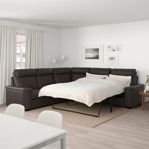 LIDHULT sofa tempat tidur sudut, 5 dudukan