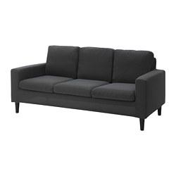 HÄSSELBY - 3-seat sofa, Knisa dark grey