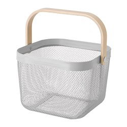RISATORP - Basket, grey