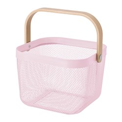 RISATORP - Basket, light pink